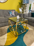 Gold Brisbane End Table