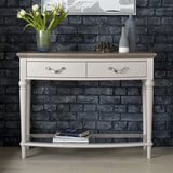 Montreux Grey Washed Oak & Soft Grey Console Table