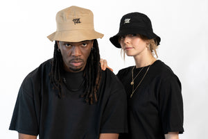 basic bucket hat - afro nova - african style - one size - culture - black and white - onelove - basic collection