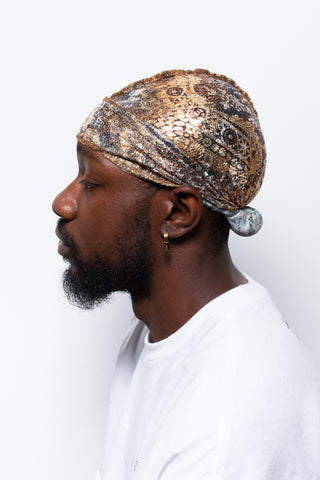 Golden Flower Crown Durag