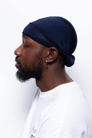 Navy Blue Crown Durag