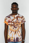 Orange/grey tie dye shirt