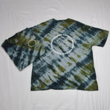 Crisscrossed green/grey T-Shirt Tie dye