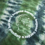 Crisscrossed green T-Shirt tie dye