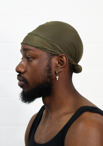 Green Mesh Crown Durag