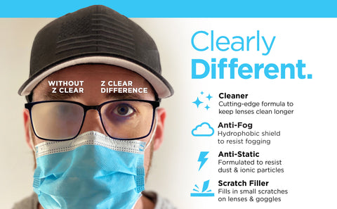 Safe Glass Lens Cleaning Solution | Prevent Fog on Glasses with Z Clear
