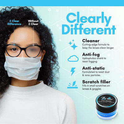 Paste - Anti-Fog - Cleaner for Glasses - Z Clear Lens Cleaner & Anti Fog