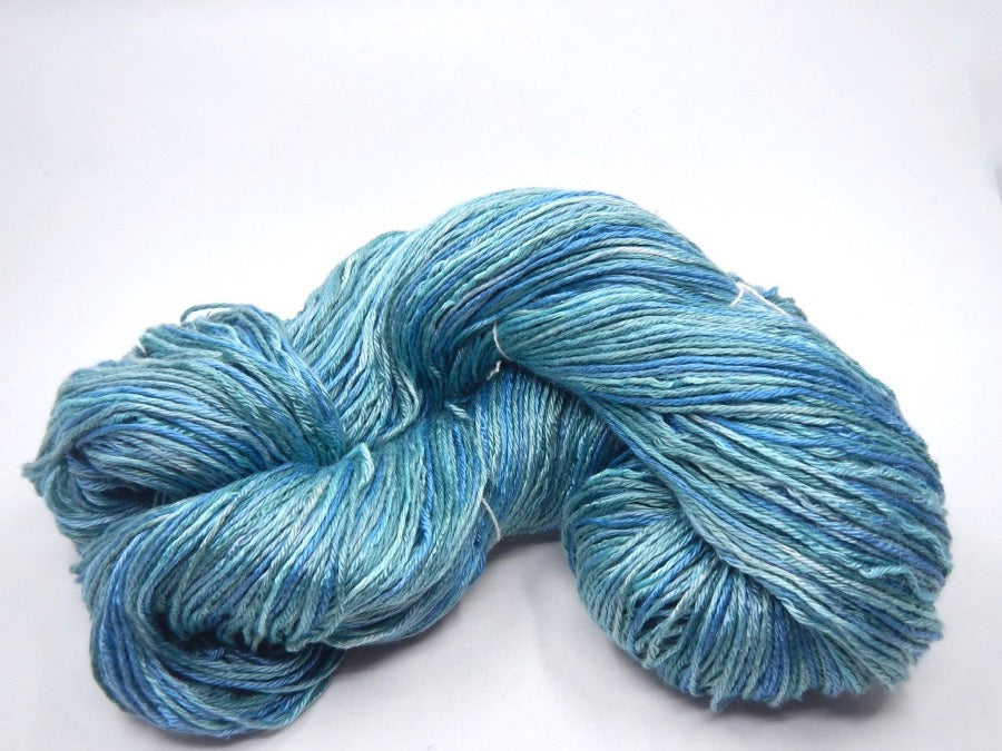 Sea Cell and Silk Fingering - Hand Dyed