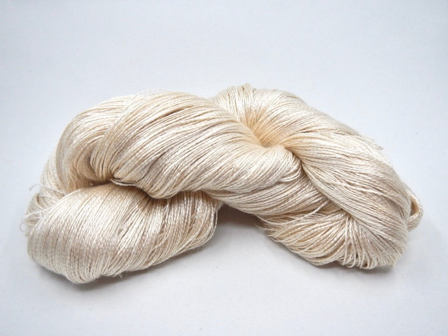 Sea Cell and Silk Fingering Yarn - Undyed