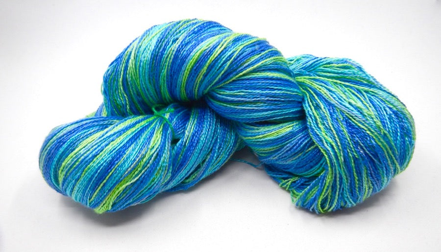 Sea Cell and Silk Lace Yarn - Hand Dyed