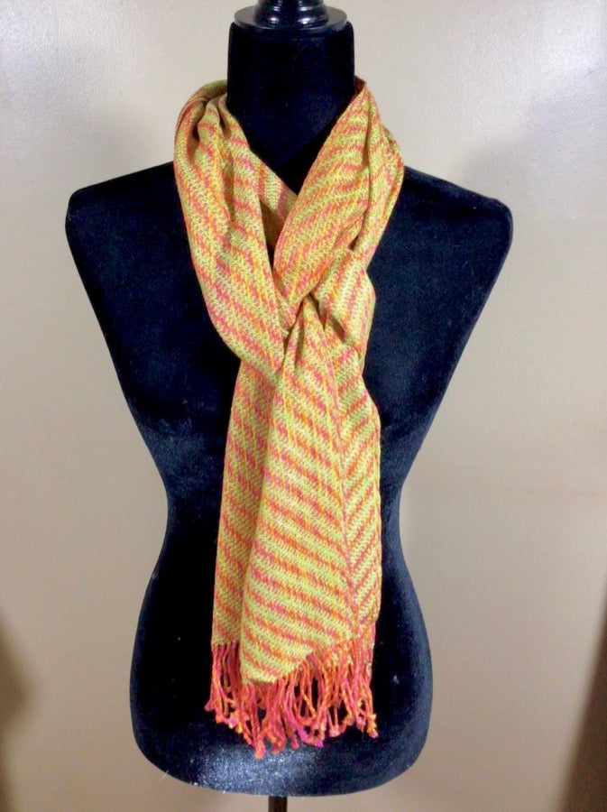 Gallery Item - Hand Woven Scarf in Cotton Tencel