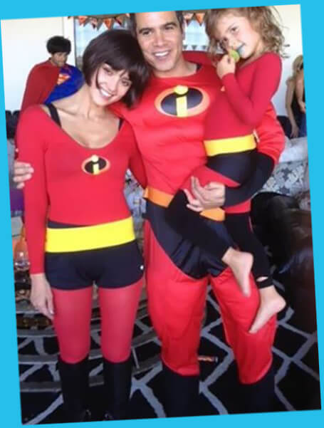 Jessica Alba and family as the incredibles