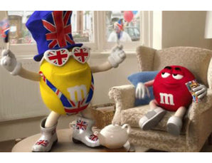 M&M characters don British fancy dress in advertising campaign