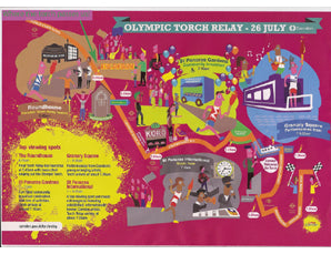 Olympic Torch Relay Route Through Camden