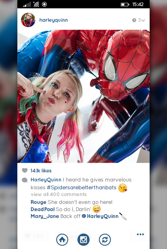 spiderman and harley quinn