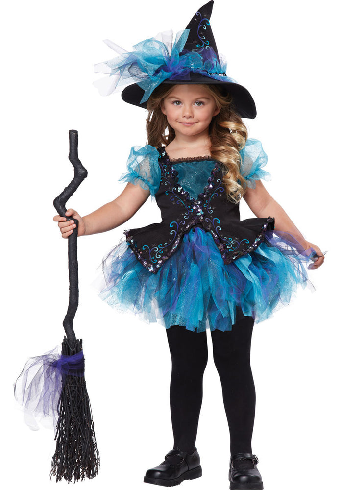 Darling Little Toddler Witch Costume in Blue