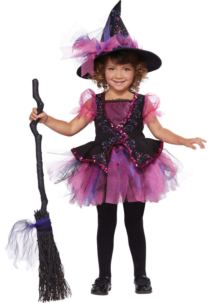Toddler Darling Little Witch Costume in Pink