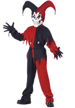 Kids Twisted Jester Costume Red & Black