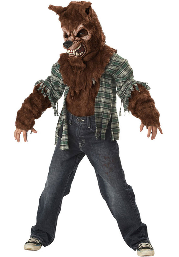 Kids Howling at the Moon Costume, Werewolf Fancy Dress