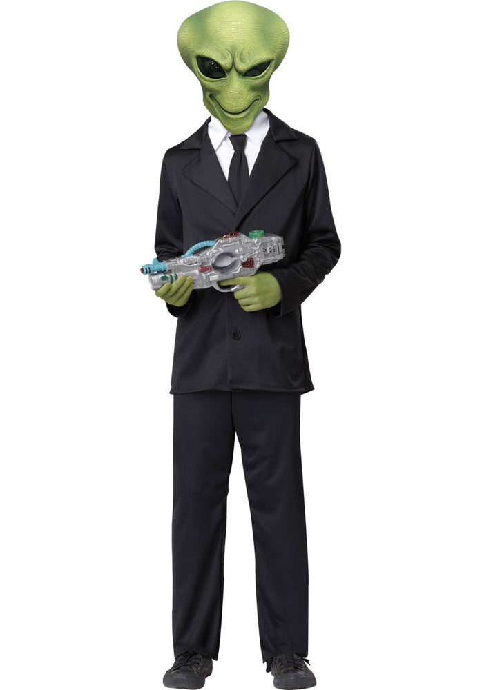 Alien Agent Child Fancy Dress Costume