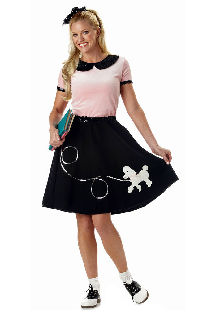 50s Hop Poodle Skirt Costume, Retro Fancy Dress
