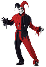 Evil Jester Costume Red & Black