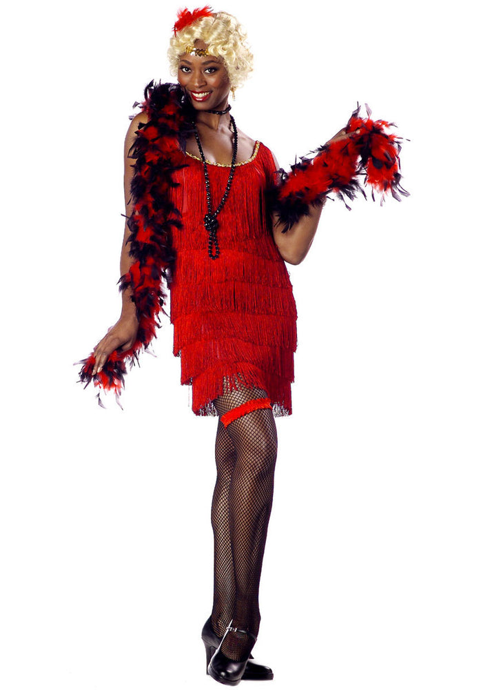 Red Flapper Fashion Costume