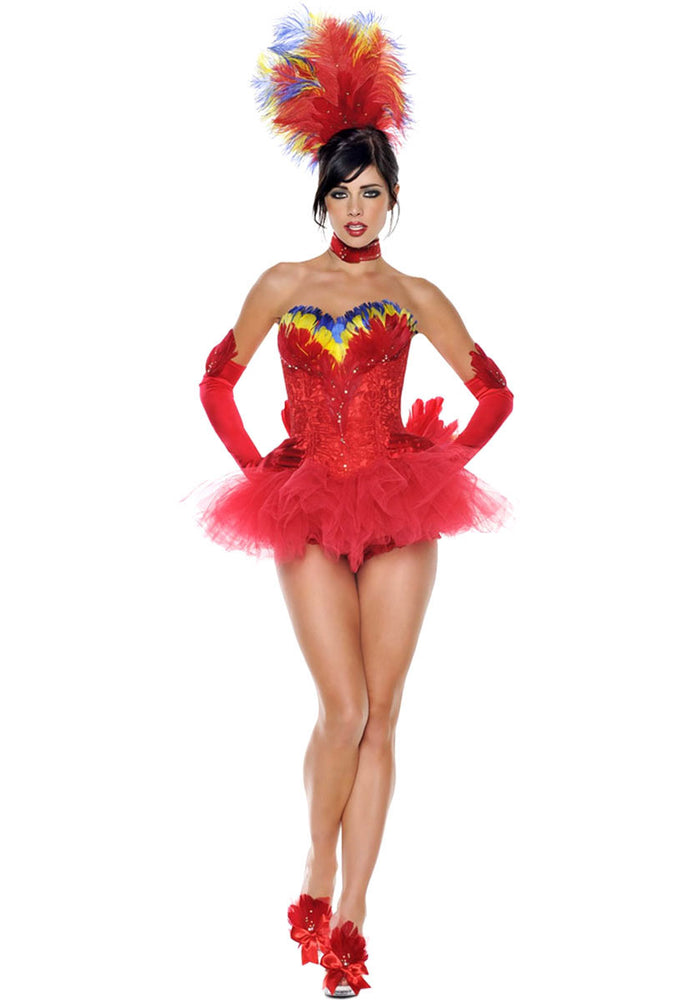 Saucy Macaw Costume, Deluxe Ladies Macaw Fancy Dress