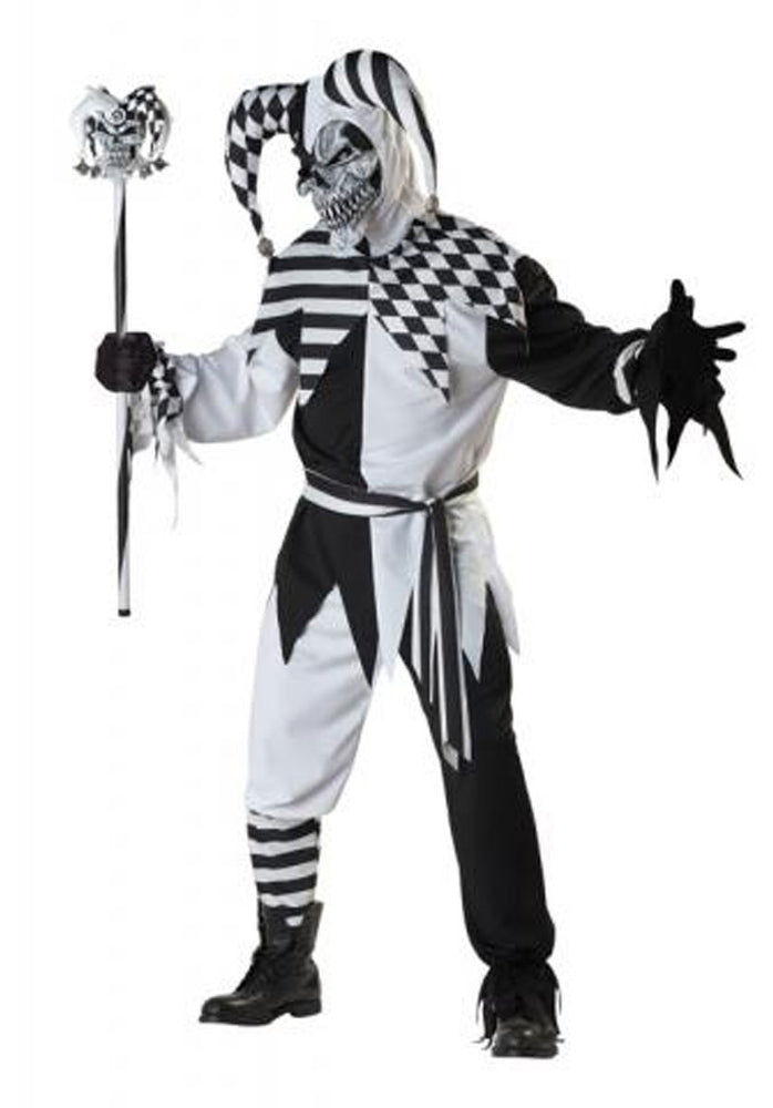 Nobodys Full Halloween Scary Jester Costume