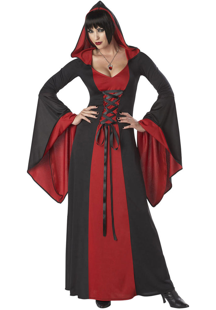 Deluxe Red Hooded Vampire Costume