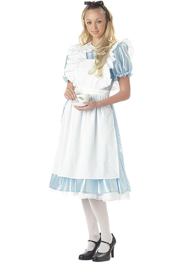 Classic Alice in wonderland Fancy Dress Costume - Child Fairy Tale Outfit