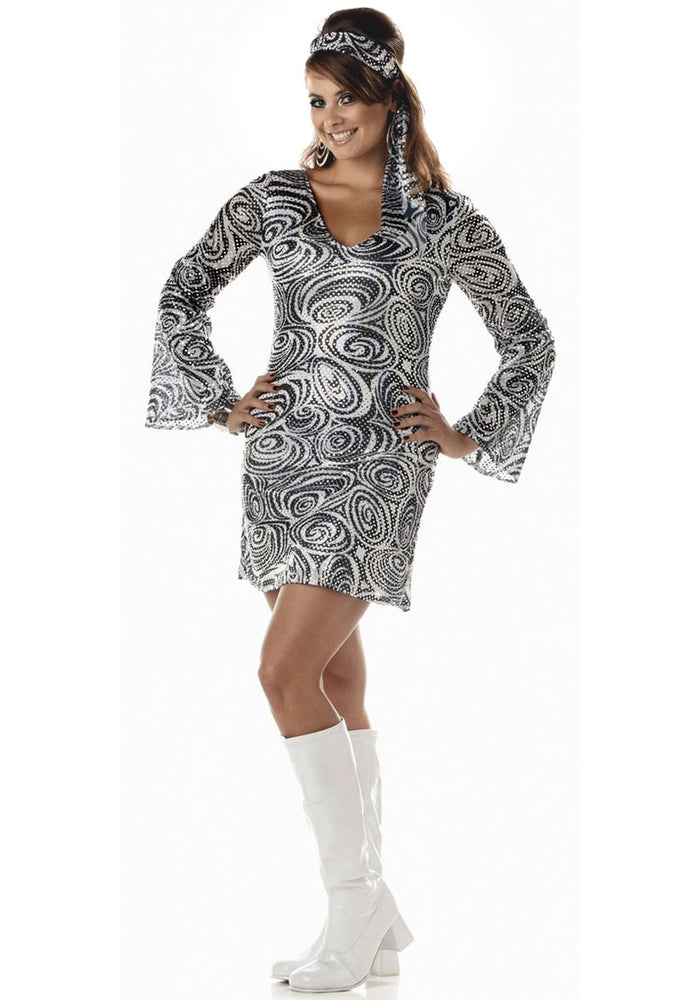 Plus Size 1970s Disco Diva Costume, Disco Fancy Dress