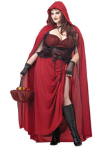 Dark Red Riding Hood Costume, Extra Large & Plus Size