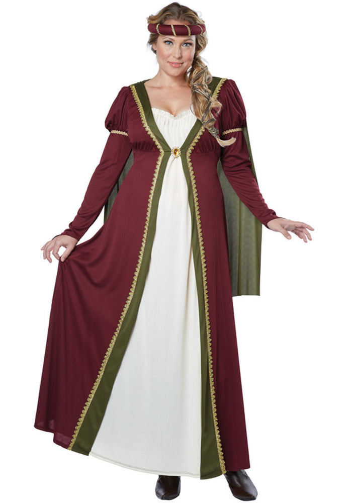 Plus Size Medieval Maiden Costume