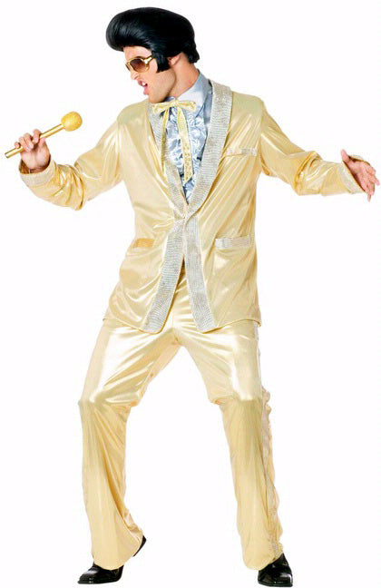 Elvis Gold Lamé Suit, Rock n Roll Fancy Dress
