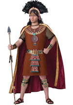 Mayan King Costume, Mens Fancy Dress