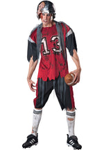 Adult Dead Zone Zombie Costume, American Football Zombie