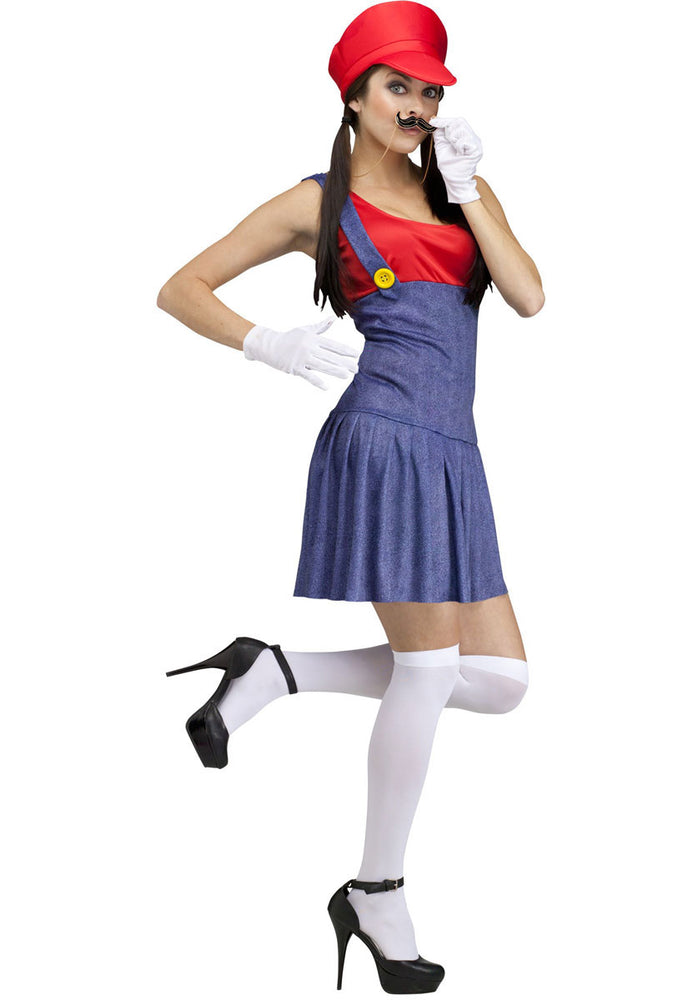 Pretty Plumber Costume, Red