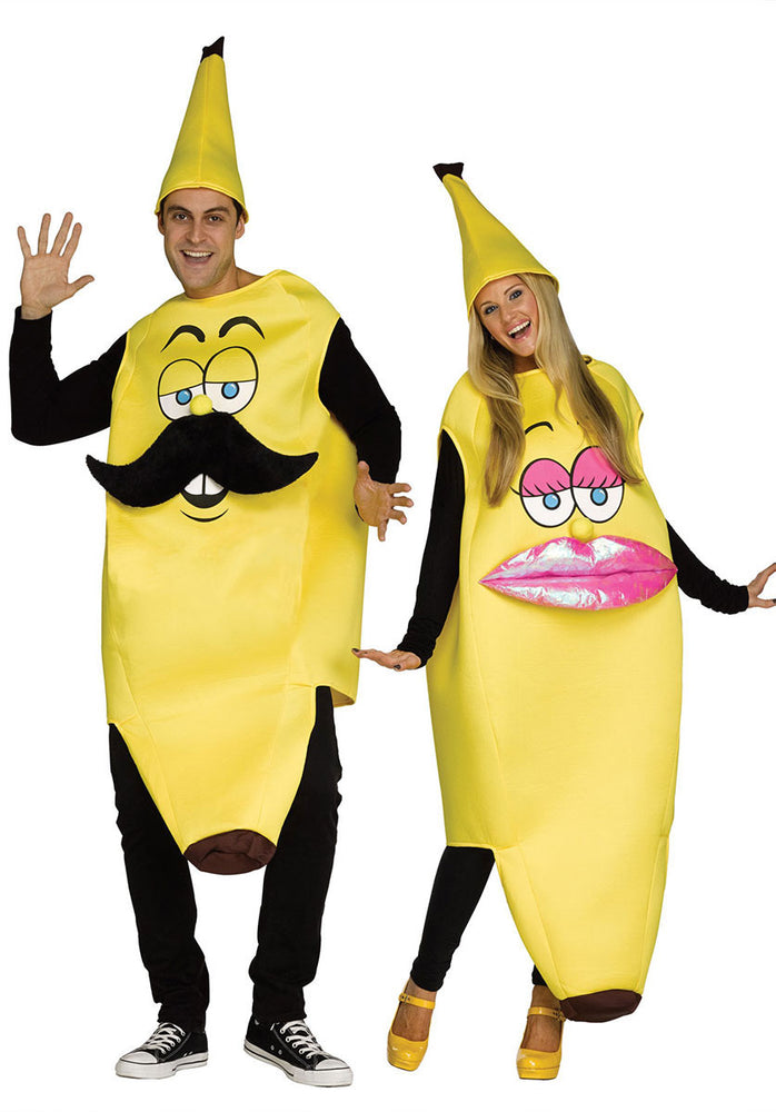 Mr Banana Pink and Yellow Mens Fancy Dress