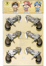 Mini Pirate Toy Pistols x 6