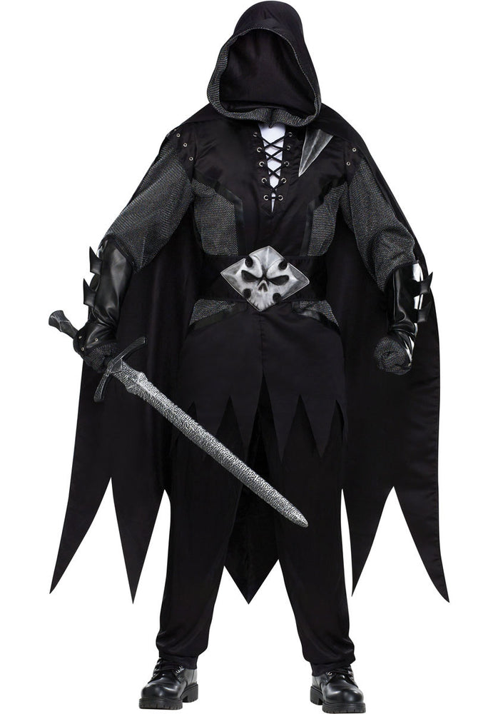 Evil Knight Costume, Horror Medieval Fancy Dress
