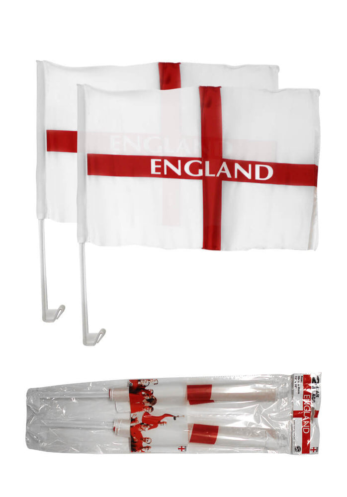 England Car Flag (Twin Pack)