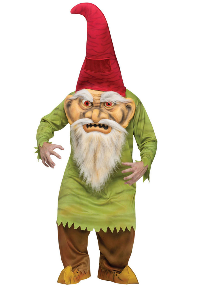 Big Head Evil Gnome Costume, Halloween Fancy Dress