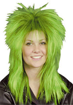 Rock Diva Wig Green and Black