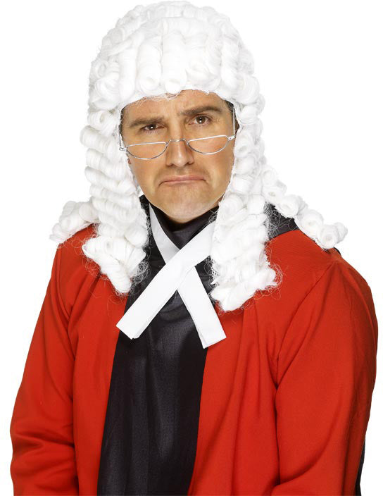 Judges Wig, White ,Smiffys fancy dress