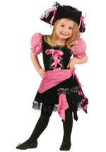 Pink Punk Pirate Costume, Toddler
