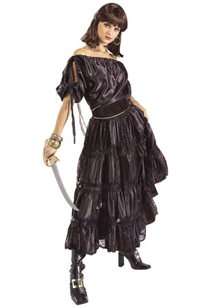 Pirate Wench Deluxe Costume - Black