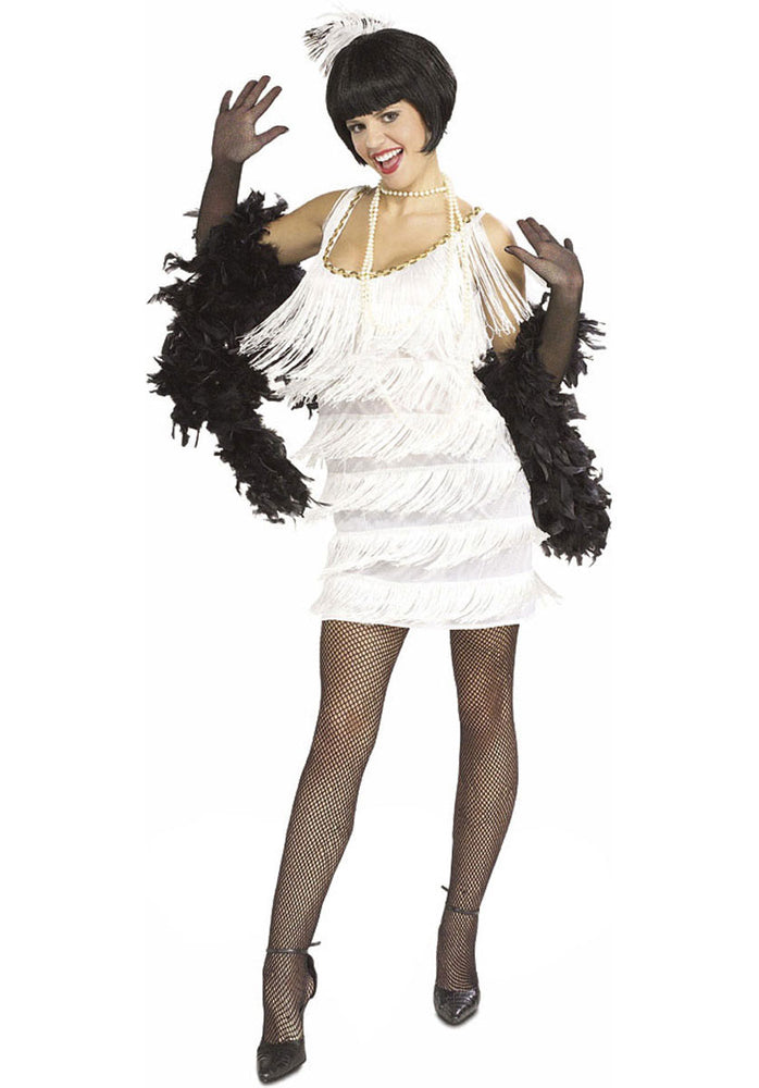 Flapper Broadway Babe White Costume