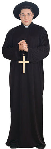 Priest Costume, Plus Size, Religion Fancy Dress