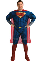 Plus Size Deluxe Man of Steel Muscle Chest Superman Costume